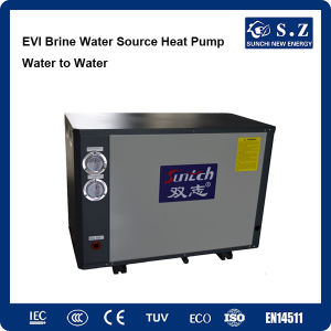-25c Winter Home Heating +Dhw 55c Hot Water 10kw/15kw Evi Tech. -15c Glycol Loop Brine Seawater to Water Heat Pump Water Heater pictures & photos