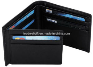Travelambo RFID Blocking Mens Leather Wallet Flipout ID Bifold Trifold Hybrid Slim pictures & photos