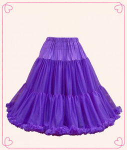 Ladise Fashion Dark Purple Petticoat