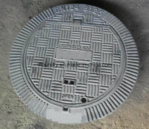 Une124 D400 Ductile Iron Manhole Covers with Capacity 40 Tons pictures & photos