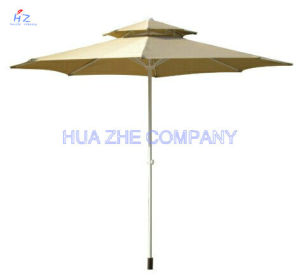 3m Double Roof Round Umbrella Outdoor Parasol pictures & photos