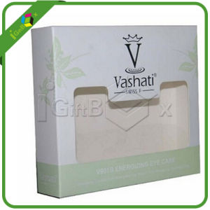 Folding Paper Cosmetic Box with PVC Window pictures & photos