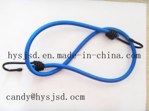 Best Quality and Low Price 8mm White Elastic Bungee Cord with Plastic End pictures & photos