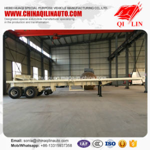 Hot Sale Flatbed Semi Trailer for Container or Bulk Cargo Loading pictures & photos