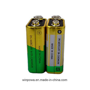 9V 6f22 Zinc Chloride Battery pictures & photos