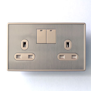 B1 Series One Gang 13A (double) Switch