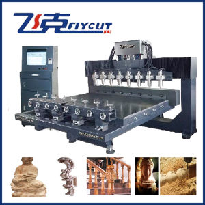 4 Axis 8 Spindle Rotary Automatic 3D Woodcarving CNC Router pictures & photos