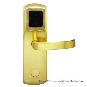 High Security Stainless Steel RFID Smart Hotel Lock Electronic Lock with Management System pictures & photos
