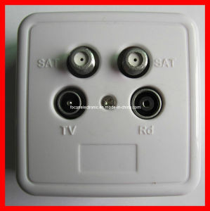 Four-Hole 5-1000MHz TV Wall Plate & TV/Radio Satellite Wall Plate pictures & photos