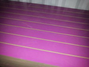 Melamine Slotted MDF Board with Aluminium pictures & photos