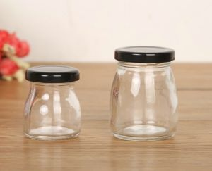 Black Cap Lid 150ml 50ml Glass Bottle Packing Honey pictures & photos