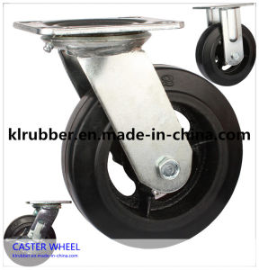 8 Inch Rubber Caster Rubber Caster Wheels for Waste Bin pictures & photos