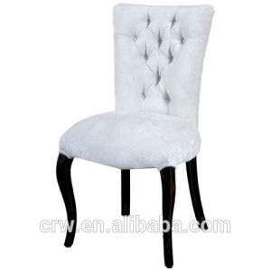 Rch-4248 White Fabric Upholstered Button Chair pictures & photos