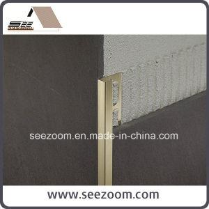 Silver Aluminum / Aluminium Ceramic Tile Edge Trim