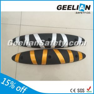 Real Manufacture Traffic Panel Rubber Lane Separator, Warning Road Safety Traffic Lane Divider pictures & photos