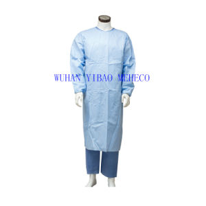 Disposable PP Coated PE Isolation Gown