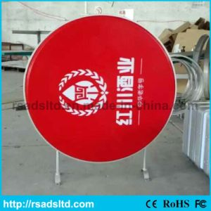 OEM LED Plastic Round Light Box Signage pictures & photos