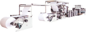 Paper Ruling Reel to Sheet Machine Student Exercise Book Diary Notebook Flexo Printing and Saddle Stitched Production Line pictures & photos