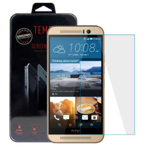 Wholesale! ! 0.33mm 9h Hardness 2.5D Anti-Fingerprint Premium Real Tempered Glass Screen Protector for HTC One M9