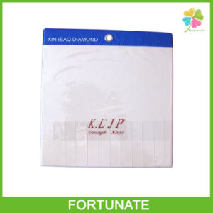 Embossing Logo Clear PVC Vinyl Label Holders with Metal Hook pictures & photos