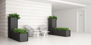Uispair Square 100% Steel Garden Flower Planter for Modern Office Garden Decoration pictures & photos