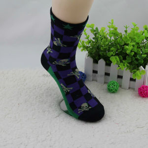 Fancy Men Cotton Socks with Computer Design Msp-02