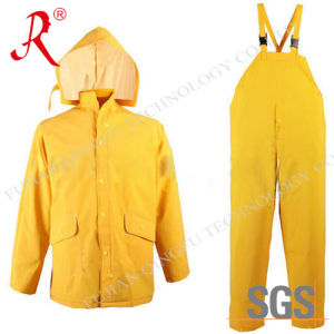 Factory Sale Promotion PVC Rain Coats with Pants (QF-703) pictures & photos