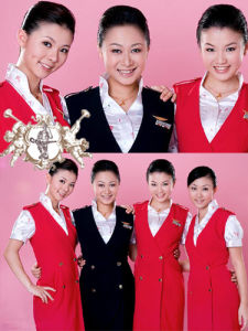 Airlines Uniform with Skirt for Women (UFM130009) pictures & photos