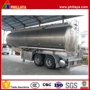 3 Axle Aluminum Alloy Tank Body Tandem Fuel Oil Tank Semi Trailer for Sale pictures & photos