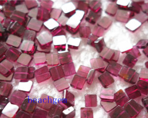 Jewelry Parts-Natural Garnet Square Beads pictures & photos
