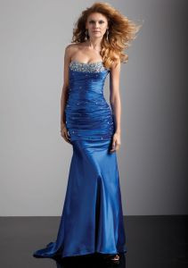 Fishtail Mermaid Beaded Taffeta Best Selling Formal Evening Dresses pictures & photos
