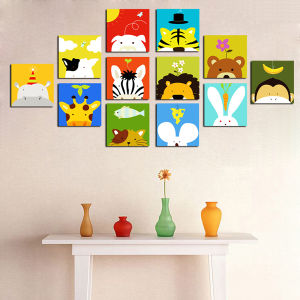 Decorative Cartoon Pictures Canvas Art for Kids Room