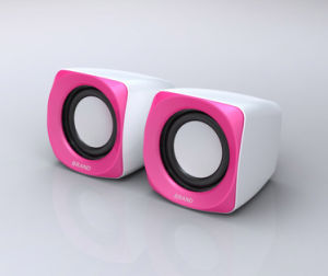 Digital Square Mini Speaker (S181 White+Pink)