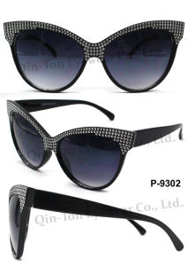 Fashion Plastic Sunglasses with 100% UV Protection (P-9302)