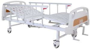 High Quality Hospital Use Two Cranks Manual Care Bed/Medical Bed/Hospital Bed (SK-MB106) pictures & photos