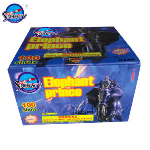 "100 Shots 1.2"" Color Box Pyrotechnics Cake Fireworks pictures & photos"
