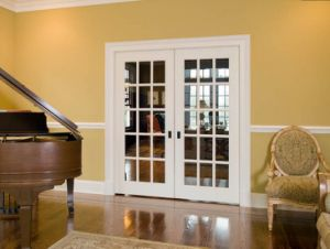 Modern Arch Top White French Door with Clear Glass pictures & photos
