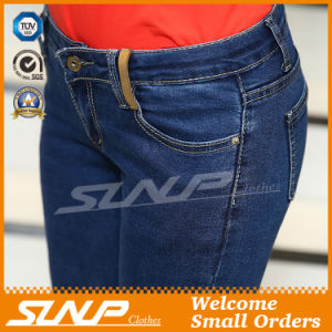 New Fashion High Waist Jean Pants with Hole for Women pictures & photos