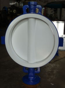 High Performance Flanged PTFE Lined Butterfly Valves pictures & photos