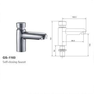 Self-Closing Faucet, Time Delay Tap, Water Saving Tap (1103)