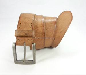Handsome Man Jean′s Belt of Top Grain Leather (EU6013-38) pictures & photos