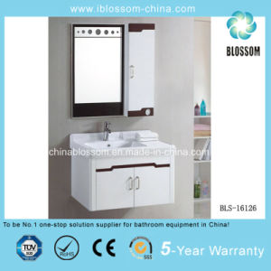 Fashion Wall-Mounted PVC Waterproof Bathroom Cabinet, Vanity with CE (BLS-16126) pictures & photos