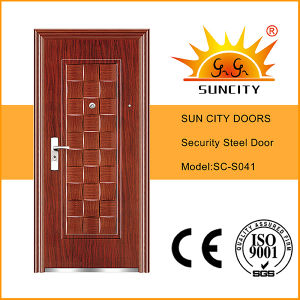 Models Steel Door Design Used Wrought Iron Door Gates (SC-S041) pictures & photos