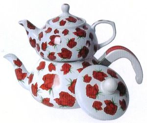 2.4+0.9L Porcelain and Enamel Teapot Set pictures & photos