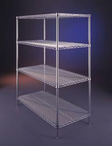 4-Tier Chrome Plated Wire Shelf (YG-323SMLN)