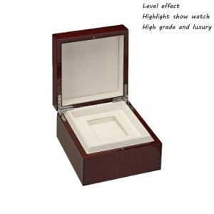 Custom Luxury Lacquered Finish Wood Single Watch Packaging Boxes Wholesale pictures & photos