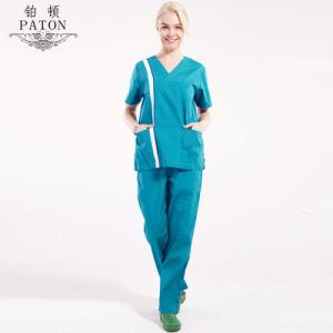 China Manufacture Fashion Nurse Uniforms/100% Cotton Medical Scrubs Design pictures & photos