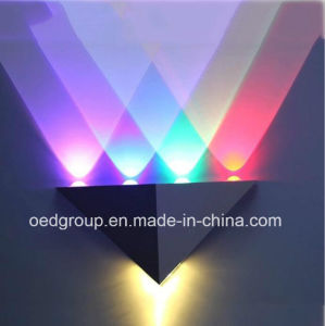 5W Triangle RGB Projection LED Wall Lamp pictures & photos