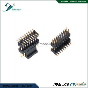 Pin Header Pitch 1.0mm   Dual Row Dual Insulator SMT Type H1.0mm pictures & photos