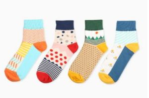 Custom Fashion Knee High Cotton Sock in Various Colors and Designs pictures & photos